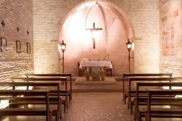 Interno cappella di Borgo dei Conti della Torre