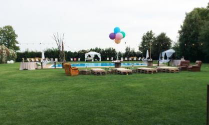 allestimento matrimonio piscina