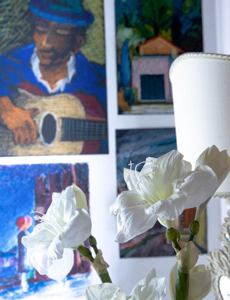 Dettaglio camera degli artisti